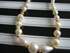 Wedding necklace Cream beads