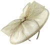 Failsworth Millinery Sinamay Disc in Pearl-Silver