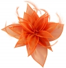 Failsworth Millinery Organza Leaves Fascinator in Persimmon