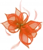 Failsworth Millinery Sinamay Clip Fascinator in Persimmon