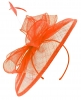 Failsworth Millinery Sinamay Disc Headpiece in Persimmon