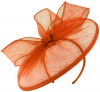 Failsworth Millinery Sinamay Disc in Persimmon