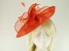 Failsworth Millinery Sinamay Leaves Disc in Persimmon
