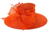 Failsworth Millinery Wide Brimmed Events Hat in Persimmon