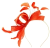 Failsworth Millinery Wide Loops Fascinator in Persimmon