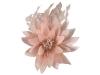 Failsworth Millinery Feather Flower Fascinator in Petal