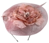 Failsworth Millinery Sinamay Events Headpiece in Petal