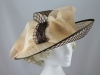 Peter Bettley Cream and Mocha Occasion Hat