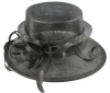Elegance Collection Sinamay Loops Wedding Hat in Pewter