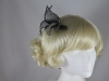 Elegance Collection Sinamay Small Leaves Fascinator in Pewter