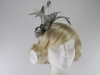 Hawkins Collection Sinamay Leaves Fascinator in Pewter