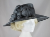 Hawkins Collection Wide Loops Occasion Hat in Pewter