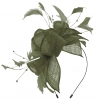 Max and Ellie Diamante Fascinator in Pewter