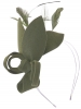 Max and Ellie Lily Felt Fascinator in Pewter