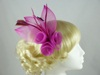 Large Bright Fascinator in Pink