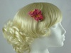 Micro Flower Clip in Pink