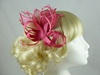Tara Fascinator in Pink / Cerise