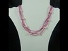 Tube Bead Necklace in Pink