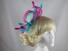 Large Loop Fascinator in Pink & Blue