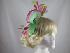 Large Loop Fascinator in Pink & Green