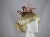 Elegance Collection Sinamay Leaves Fascinator in Pink & Bronze
