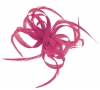 Aurora Collection Loops in Hessian Fascinator in Pink