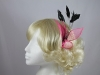Bright Leaves Fascinator in Pink