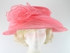 Collapsible Occasion Hat in Pink