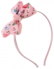 Daisy Daisy Aliceband Floral Bow in Pink