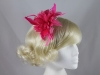 Flower with Biots Fascinator in Pink