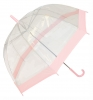 Hawkins Clear Umbrellla in Pink