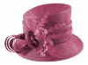 Hawkins Collection Nested Loops Wedding Hat in Pink