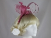 Hawkins Collection Quill and Leaves Fascinator in Pink