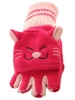 Jiglz Animal Fleece Shooter Mitts in Pink