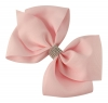 Molly and Rose Large Diamante Hair Bow in Pink