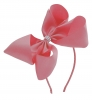 Molly and Rose Aliceband Diamante Hair Bow in Pink
