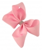 Molly and Rose Medium Diamante Hair Bow in Pink