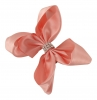 Molly and Rose Small Diamante Hair Bow in Pink