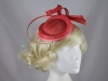 Aurora Collection Quill and Loops Headpiece in Coral