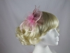 Swirl & Biots Fascinator on aliceband in Pink