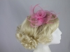 Swirl & Biots Fascinator on comb in Pink
