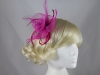 Swirl and Biots with Diamantes Fascinator in Pink