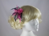 Two Tone Rose Fascinator in Pink & Navy