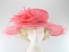 Wide Brim Collapsible Hat in Pink