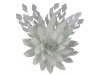 Failsworth Millinery Feather Flower Fascinator in Platinum