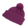 Hawkins Chunky Knit Beanie Hat in Plum