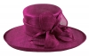 Hawkins Collection Flower Ascot Hat in Plum