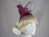 Hawkins Collection Quill and Leaves Fascinator in Plum