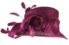 Hawkins Collection Short Down Brim Wedding Hat in Plum