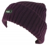 Thinsulate Ladies Chunky Beanie Ski Hat in Plum
